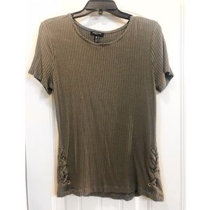 Kenneth Cole medium olive green top